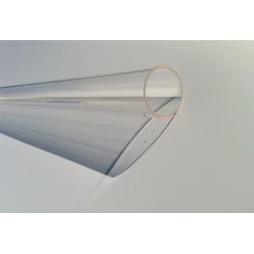 Tube quartz diamètre 34 mm L 890 mm pour lampe UV bi-culots