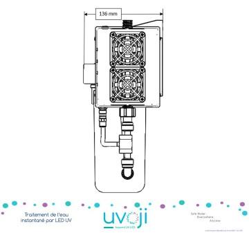 LED UV C Oji Pure débit 8 L/min avec triple filtration by T.zic