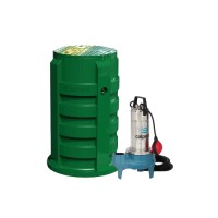 station de relevage Calidom en PEHD avec pompe à roue vortex pour eau chargée