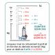 Longueur de refoulement en fonction du dénivelé du terrain pour débit de 6m3/h