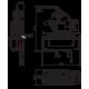 Plan d'encombrement du module Wilo RAIN1-25 EM pour gestion d'eau de pluie