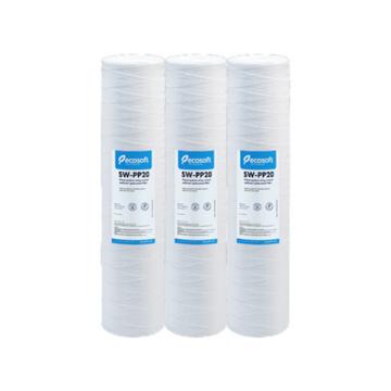 Lot de 3 filtres bobinées 10 pouces Ecosoft pour filtration d'eau