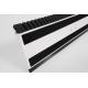 Vu de dessous du support Genius avec 2 bandes Velcro, la raclette et les lamelles pour balayage