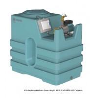 Kit récupération d'eau de pluie Calpeda avec cuve et pompe pour sous-sol