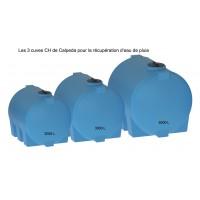 Les 3 cuves aériennes CH Calpeda pour récupération d'eau de pluie
