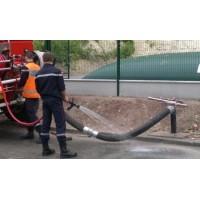 Citerne souple réserve incendie aspiration enterrée sortie coudée