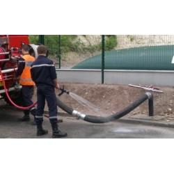 Kit aspiration enterrée sortie coudée inox pour citerne incendie