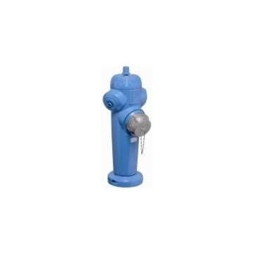 Poteau bleu d'aspiration enterrée pour citerne souple défense incendie