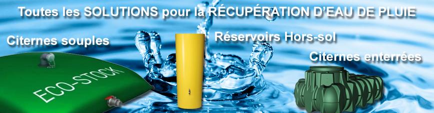 Des cuves ou citernes pour la réupération d'eau de pluie